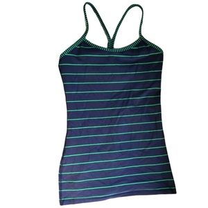 Lululemon tank top size 4 blue and green